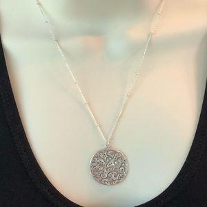 Silpada Sterling Cutout Circle Pendant Necklace